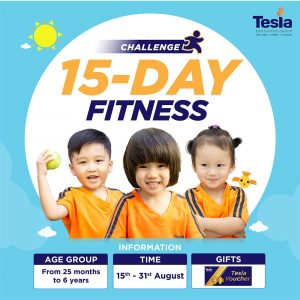 15 days of fitness challenge for children